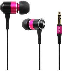 audífonos bluetooth, es-q3 universal 3.5mm atado con alambre estupendo ruidoso alto auricular interno del en-oído (color de rosa)