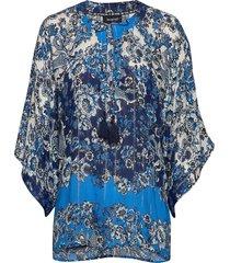 blus atenas blouse lange mouwen blauw desigual
