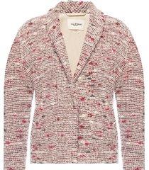 tweed jacket with belt