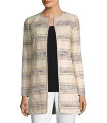 lafayette 148 new york women's pria jacket - buff - size 4