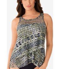 miraclesuit monteverde printed mirage underwire tankini top women's swimsuit
