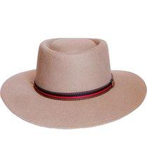 sombrero fieltro ecuestre beige talla m viva felicia