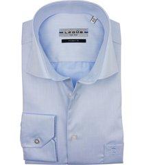 shirt ledub licht blauw strijkvrij
