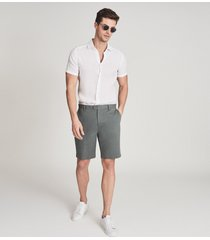 reiss wicket - casual chino shorts in sage, mens, size 36