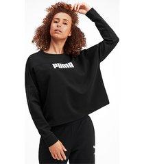 nu-tility cropped sweater voor dames, zwart, maat xs | puma