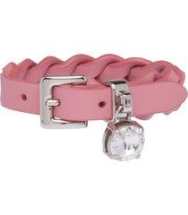 miu miu woven nappa leather bracelet - pink