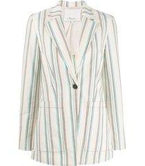 3.1 phillip lim oversized striped blazer - neutrals