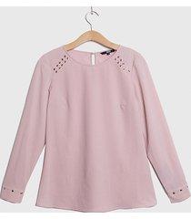 blusa ash ml rosa - calce holgado
