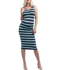 women's nom maternity snap placket maternity/nursing tank dress