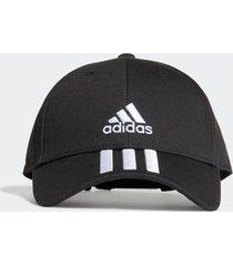 boné adidas baseball 3 stripes preto - único
