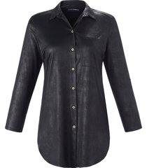 blouse in a-lijnmodel van doris streich zwart