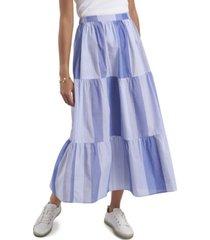 women's cape stripe tiered skirt
