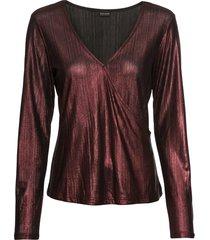 maglia lucida a maniche lunghe (rosso) - bodyflirt