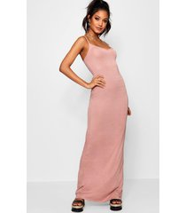 basic strappy maxi dress, antique rose