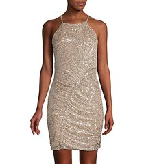 alina sequin mini sheath dress