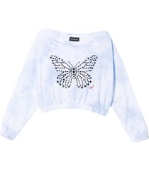 monnalisa white sweatshirt with print