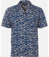 a.p.c. men's chemisette david shirt - bleu - xl