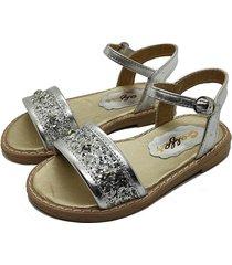 sandalia plata calfas glitter a.dory