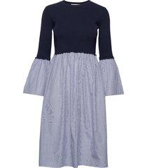 nika dress jurk knielengte blauw storm & marie
