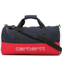 carhartt wip logo-print duffle bag - multicolour