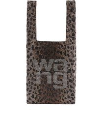 'wangloc' rhinestone embellished mini shopper bag