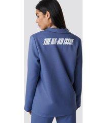 the classy issue x na-kd the classy blazer - blue