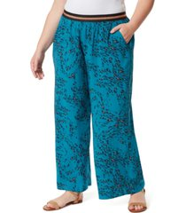 jessica simpson trendy plus size shani printed long pants