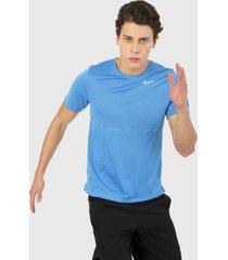 camiseta azul nike run top ss pacific