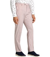 paisley & gray slim fit suit separates pants red & white stripes