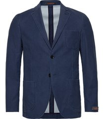 portofino washed cotton jacket blazer colbert blauw morris