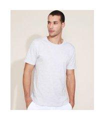 "camiseta masculina paz amor saúde"" manga curta gola careca branca"""