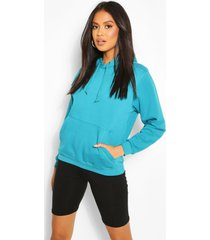 basic oversized hoodie, teal