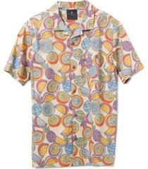 junk food men's maxim short sleeve printed camp shirt