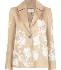 alexis cyrano embroidered jacket - neutrals