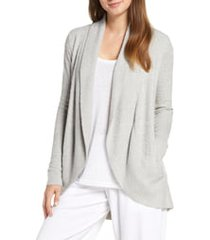 women's barefoot dreams cozychic(tm) lite circle cardigan, size large/x-large - grey