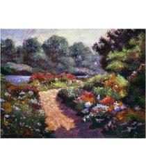 "david lloyd glover walnut river garden canvas art - 37"" x 49"""