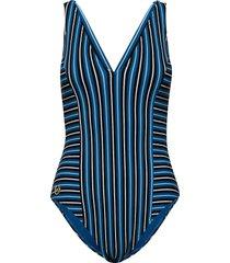 vneck 1pcs baddräkt badkläder blå michael kors swimwear
