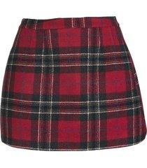 red valentino red shetland tartan mini skirt