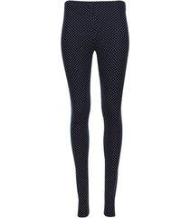leggings estampado puntos color azul, talla 6