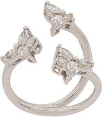 yeprem open front ring - white gold