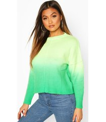 ombre sweater, green