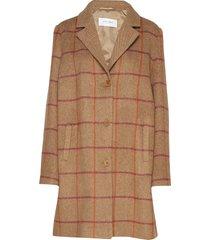 coat wool wollen jas lange jas bruin gerry weber edition
