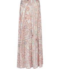 etro paisley print silk maxi skirt