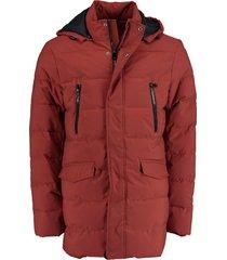 bos bright blue stepped long jacket 20301al20sb/861 rust
