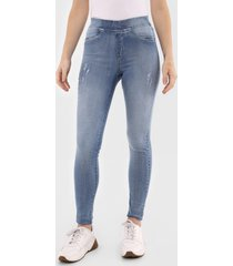 calça jeans malwee jegging destroyed azul - kanui