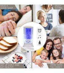 lcd digital reloj despertador calendario retroiluminación pantalla