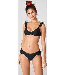 j&k swim x na-kd frill bikini briefs - black