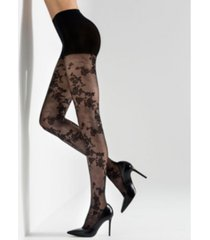 natori scarlet lace sheer tights, online only