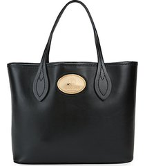 leather box tote