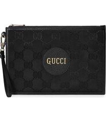 gucci off the grid gg supreme canvas pouch - black